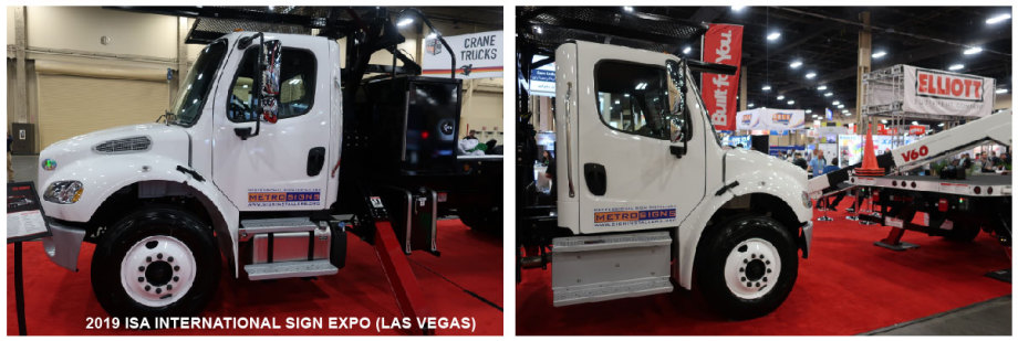 OUR NEW SIGN INSTALLATION TRUCK DISPLAYED AT 2019 ISA SIGN EXPO